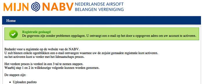 Registratie NABV