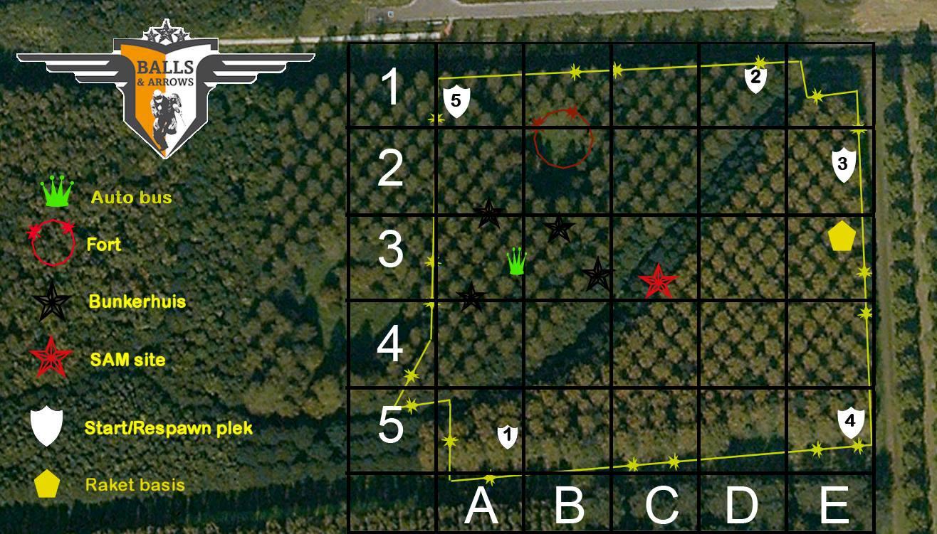 De kaart van Balls and Arrows