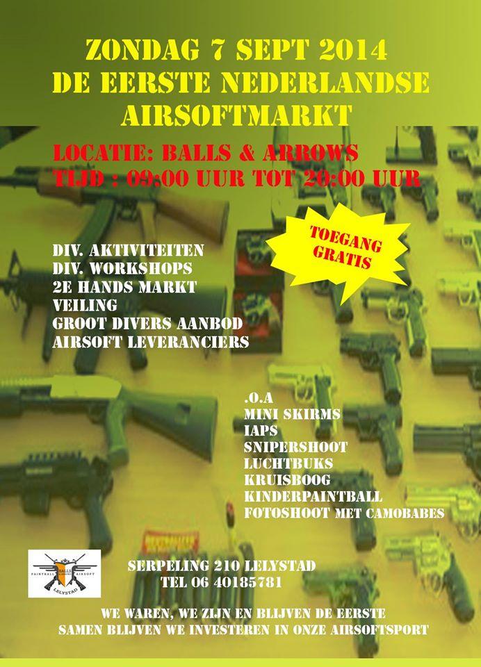 De flyer van de Airsoft Markt